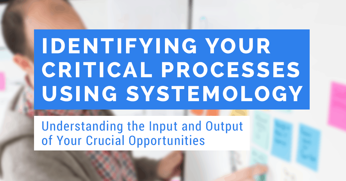 identifying your critical processes using systemology