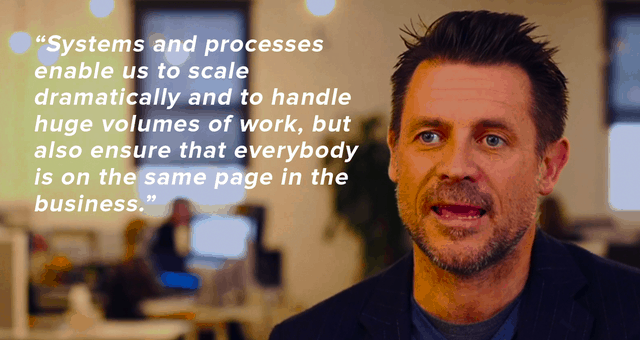 systems and processes allow us to scale dramatically